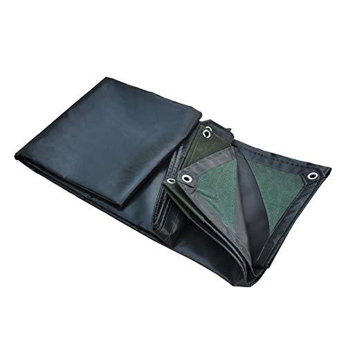 ZEMIN Bâche Protection Couverture Imperméable Résistance Haute Qualité Antigel Boutonnière PVC, Vert Foncé, 600G / M², Plusieurs Tailles (Color : Dark Green, Size : 3.8X5.8M)