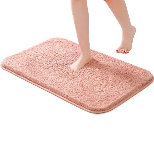 J-Moose - Tappetino da bagno antiscivolo e assorbente, lungo fluff in microfibra, extra spesso, per bagno, 40 x 60 cm