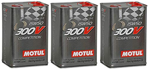 Price comparison product image Motul 300V Competition 15W50 Racing Ester Core Fully Synthetic Engine Oil,  15 Litres