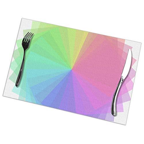 Singledog Tischsets, hitzebeständige Tischsets 6er-Set (30 x 45 cm) Sonnenschutzfarbe, glücklich, valentinfarben lackiert
