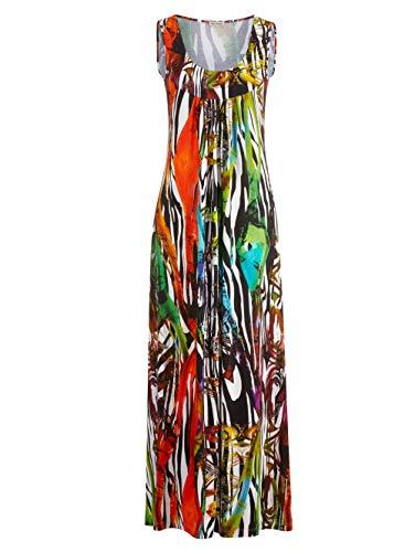 Alba Moda Strandkleid mit großzügigem Ausschnitt schwarz-bunt