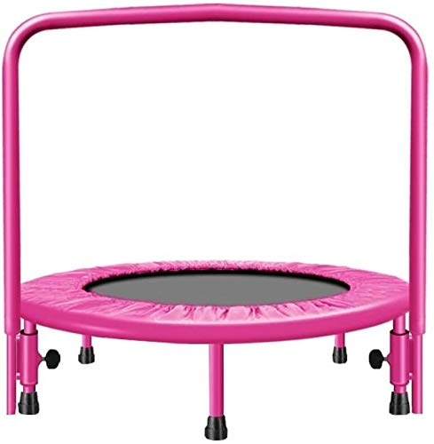 SYLOZ Trampoline Toddler Family Fitness Trampoline, Indoor For Adult Gym Slimming Aerobic Elastic Gymnastics Safety Jumping,Size:91cm/36in,Colour:Pink (Color : Pink, Size : 91cm/36in)