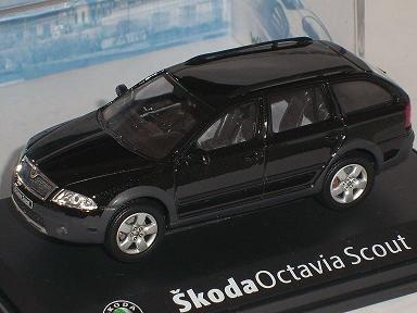 SKODA OCTAVIA II 2 SCOUT 4x4 SCHWARZ MAGIC 011D 1/43 ABREX MODELLAUTO MODELL AUTO