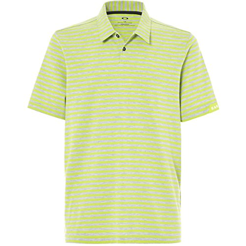 Oakley Homme 'Speed à Rayures Polo, Vert Citron, Small