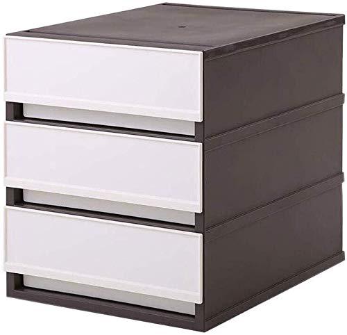 Archivadores Archivos de gran tamaño de espacio de almacenamiento del gabinete de escritorio independiente de plástico Estructura Fecha de entrega Pp - 27cm * 32.4cm altura * anchura de 35,6 cm Caja d