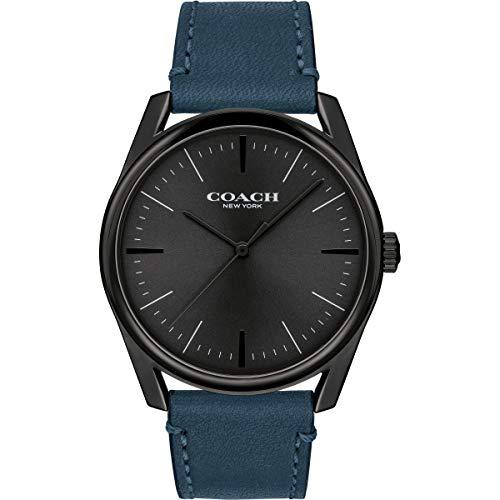 Coach | orologio da uomo di lusso moderno | cinturino in pelle blu |...