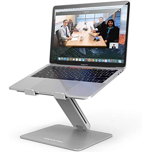 ノートパソコンスタンド AboveTEK 折りたたみ式 タブレットスタンド PCスタンド 高さ/角度調整可能 姿勢改善 腰痛/猫背解消 滑り止め アルミ合金製 ノートPCスタンド 優れた放熱性 軽量 持ち運びに便利 Macbook Air/Macbook Pro/iPad Pro/Notebooks 10〜17インチに対応 耐荷重 20KG(シルバー)