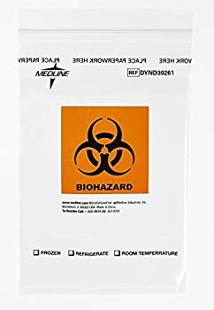 Medline DYND30261 Zip-Style Biohazard Specimen Bags Plastic Latex Free 9  Length 6  Width Clear  Pack of 1000