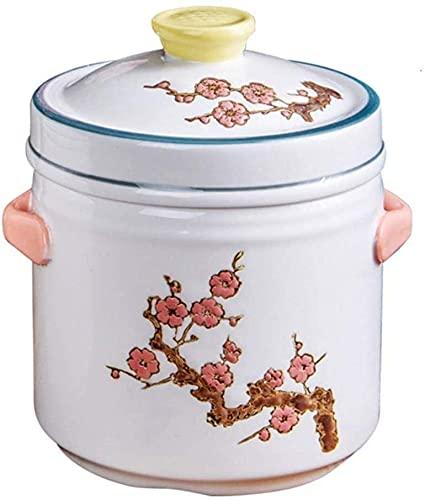 ZHEYANG Cazuelas de Barro Cazuelas Induccion Barro Cacerola de cerámica para cocinar, Almacenamiento térmico, Ahorro de Tiempo, Antiadherente, pequeña Capacidad, 1,49 l