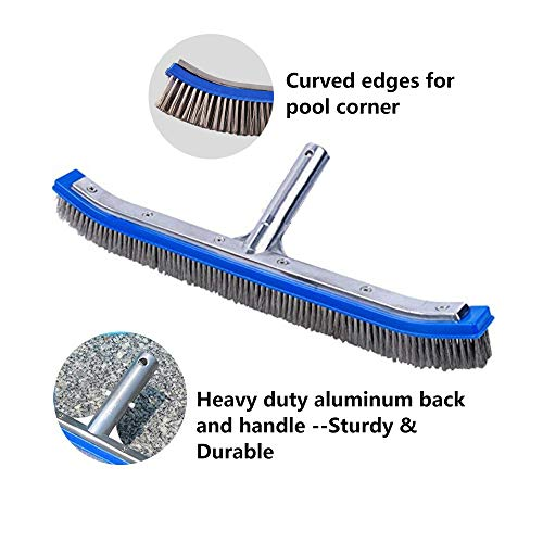 Lalapool Swimming Pool Scrub Brush,Heavy Duty 18