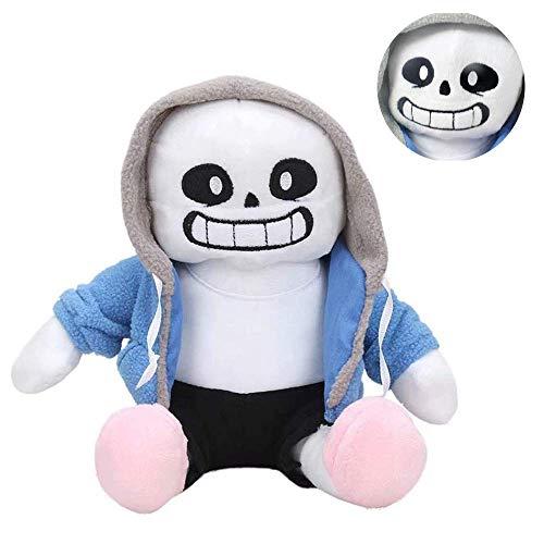 BOAJA Kinder Spielzeug Spiel Undertale Sans Plüsch gefüllte Puppe, 22 cm Undertale Sans Plüschspielzeug gefüllte Plüschpuppe Spielzeug Kissen Cosplay Puppe Geschenke 22 cm/sans