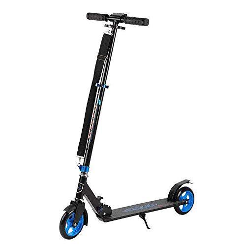 90GJ Scooter Plegable Unisex para Adultos Sport Street City Brush para Herramientas de Movilidad de Trabajo Scooter para automóvil con Dos Ruedas, 4 de Altura Ajustable Carga 100 kg (no eléctrico)