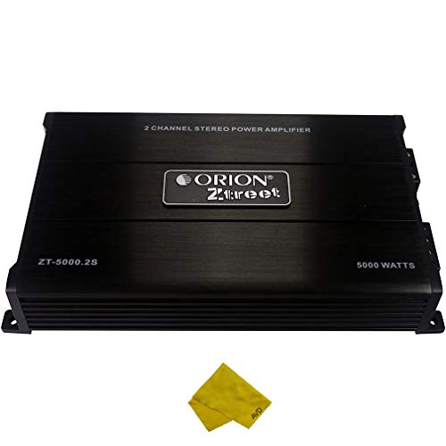 Orion Ztreet 2 Channel Car Amplifier – Class A/B Stereo Power Amplifier 5000 Watt Max 2 Ohm Stable, Bass Boost, Crossover MOSFET Power Supply, Car Electronics Amp, Audio Speakers, Great for Subwoofers