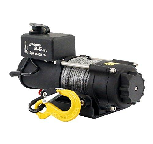 horntools Seilwinde 1,6to Gamma 3.5 ATV 24V Kunststoffseil Elektrowinde