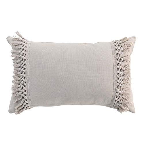 Cojín desenfundable Flecos 30 x 50 cm algodón Salma Lino