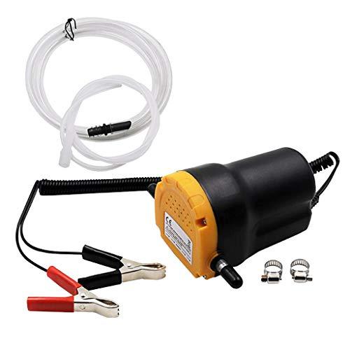 12 Ölabsaugpumpe, Selbstansaugende Ölpumpe für Motorenöl, Diesel, Heizöl, inkl. Saug- und Ablassschlauch