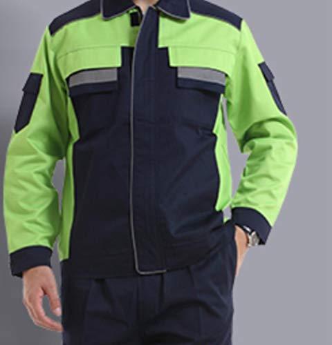 Reflecterend vest waarschuwingsvest reflecterende werkkleding sets heren dames jassen + broeken herfst winter machinereparatie laser werkkleding fotokleur één set, XXXL