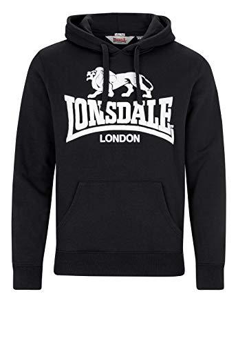 Lonsdale London Gosport 2 - Felpa con Cappuccio da Uomo, Uomo, Felpa con Cappuccio, 113027, Nero , 3XL