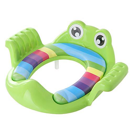 Portable Coussin de siège de toilette,Multifonction Siège confortable Siège pot pour bébé Amovible Couvercle wc Stable et confortable pour votre enfant-vert