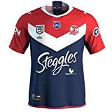 JUNBABY 2020 Australie Sydney Rooster Nines Maillot De Rugby, T-Shirt De Rugby Professionnel 9s pour Homme-Red-XXXL