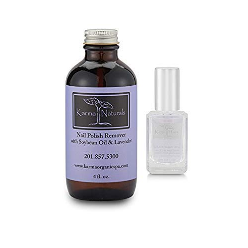 Karma Organic Removedor de esmalte de uñas de lavanda de soja natural con...