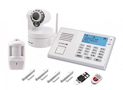 Olympia 5978 Protect 9081 Drahtlose GSM Alarmanlage mit Notruf und Freisprechfunktion, App Steuerung mit ProCom App, weiß