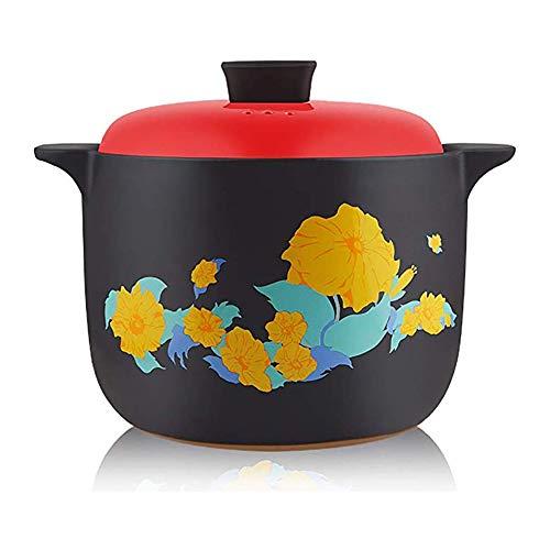 HPKC Keramik-Kochgeschirr Dutch Oven Keramiktopf Multi-Purpose-Topf, Wärmespeicher, Durable, Kälte und Hitze-beständig, leicht zu reinigen, Kapazität 5L