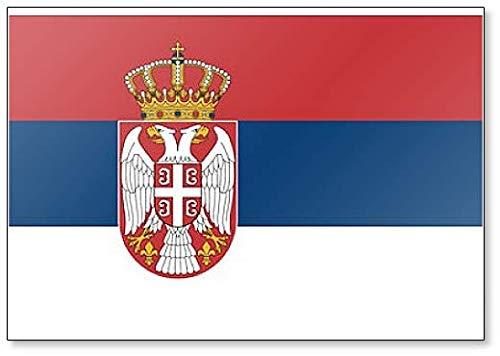 Kühlschrankmagnet Flagge Serbiens