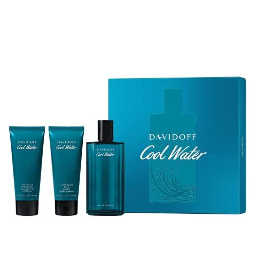Davidoff Cool Water Cofanetto Regalo - Shower Gel 75 ml, Eau de Toilette 125 ml, After Shave 75 ml