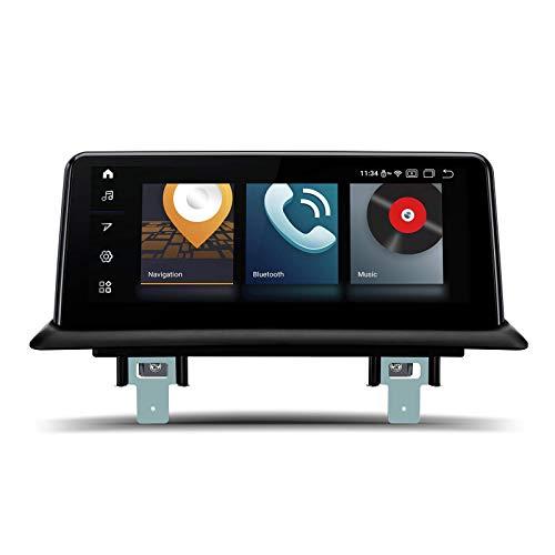 KAUTO 10.25'Autoradio Android 10 Qualcomm Bluetooth 5.0 Schermo IPS Navigazione GPS Supporta CarAutoPlay DVR Telecamera di Backup WiFi per BMW Serie 1 E81 / E82 / E87 / E88 (2006-2012) Sistema CCC
