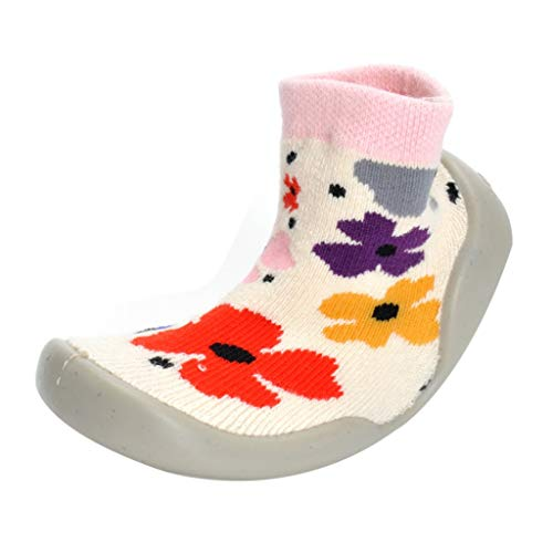 TeasyDay Socken Schuhe, Baby Mädchen Jungen warme Blumen Prewalker Schuhe, Freizeitschuhe, Winter-Krippe Schuhe