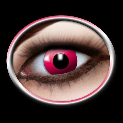 Eyecatcher Farbige Fun-Jahreskontaktlinsen PINK MANGA