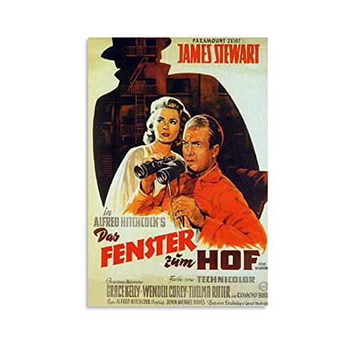 Póster retro de la década de 1950 con misterio de suspenso de la película Voyeur para la ventana trasera de la película, póster decorativo de la pared de la sala de estar, 30 x 45 cm