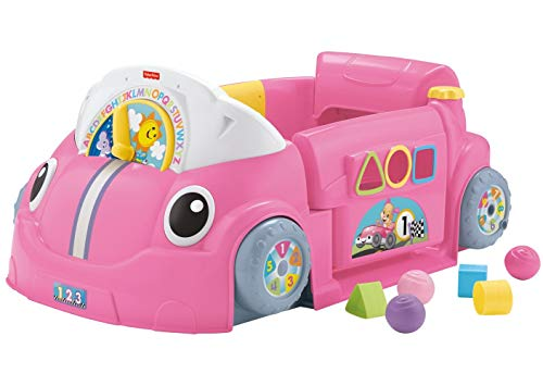 Fisher-Price Laugh & Learn Crawl Around Car,Pink,18.90 x 28.74 x 12.60 Inches