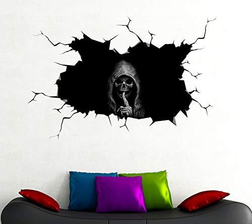 LUCKYY Silent Skull Sticker - 1 Satz Happy Halloween 3D Scary Sticker Auto Fenster Home Decoration, wasserdichte Wandaufkleber Dekor