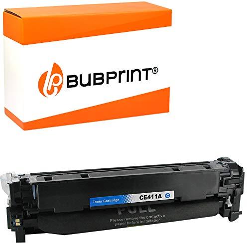 Bubprint Toner kompatibel für HP CE411A 305A für LaserJet Pro 300 Color M351A MFP M375NW Pro 400 Color M451DN M451DW M451NW M475DN M475DW Cyan