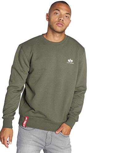 Alpha Industries Basic Small Logo Sweatshirt Oliv M