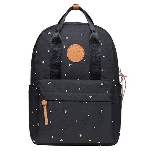KAUKKO Rucksack Einfacher Daypack Handtasche für Schul Reisen für 13 Zoll Notebook,29 * 13 * 40cm/ 15L