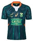 2020 Afrique du Sud Springbok 7S Maillots de Rugby, Coupe du monde Jersey coton T-shirt graphique, Maison et maillot de football Formation Compétition, (S-XXXL) ( Color : Green , Size : XX-Large )