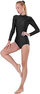 Adult Turtleneck Long Sleeve Leotard Spandex Lycra Ballet Dance Bodysuit for Women