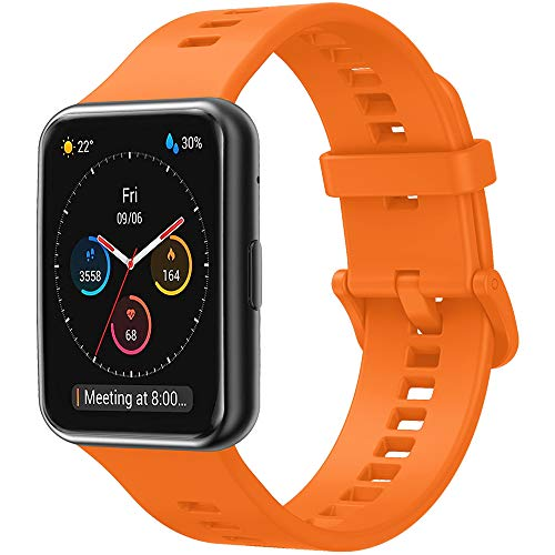 YASPARK Correas de Reloj Huawei Watch FIT, Correa de Repuesto Deportiva Impermeable y Transpirable de Silicona Suave Compatible con Huawei Watch FIT