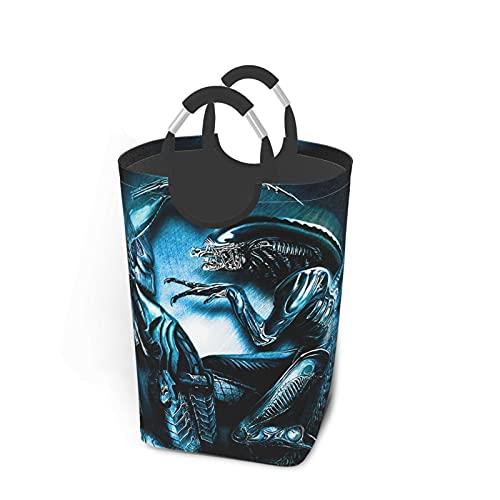 Alien VS Predator - Juego de ropa sucia, plegable, asa grande, para viajes, baño, hogar, universidad, dormitorio para hombres y mujeres, 50 L