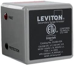 Leviton 55208-ASA 3 Phase 120/208 V WYE or 3 Phase 240 V, Delta Type 1 Surge Arrester