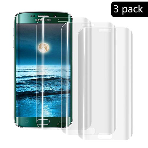XCYYOO [3 Pacco] Pellicola Vetro Temperato Samsung S6 Edge [Copertura Completa], 9H Durezza Ultra Resistente Protettiva Proteggi Schermo per Samsung S6 Edge (0.33mm HD Alta Trasparente)