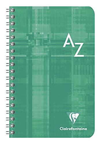 Clairefontaine 68698C 11x 17cm Seyes Rayado índice de espiral libro, 1 unidad, colores surtidos