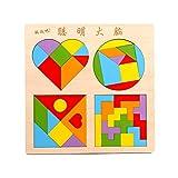 Andux Tetris de Madera Tangram 3D Bloques rusos Juguetes BT-01