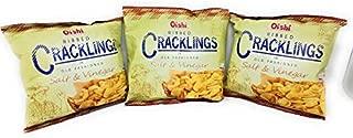 Oishi Ribbed Crackling in Old Fashioned, Salt & Vinegar Flavored, Net Wt 1.76oz (50g) 3 Pack