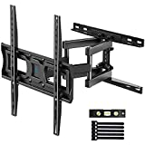 PERLESMITH TV Wall Mount Full Motion for Most 32-55 Inch TVs with Swivel & Extends 16.53 Inch - Dual 6 Arms Wall Mount TV Bracket VESA 400x400 Fits LED, LCD, OLED Flat Screen TVs up to 99 lbs 55 inch tvs May, 2021