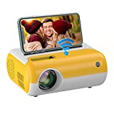 Mini Projector Portable with WiFi - Salange Pico HD 1080P Supported LED LCD Video Projectors for iPhone,Outdoor Movies,Kids Gift,Cartoon ,Home Theater with HDMI USB AV Interfaces