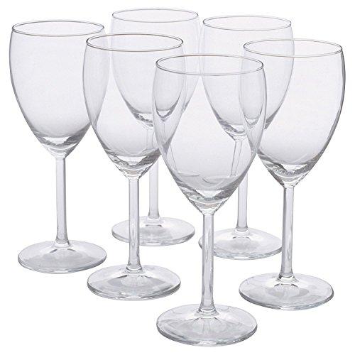 IKEA - SVALKA White Wine Glass, Clear Glass, H:7' (X6)